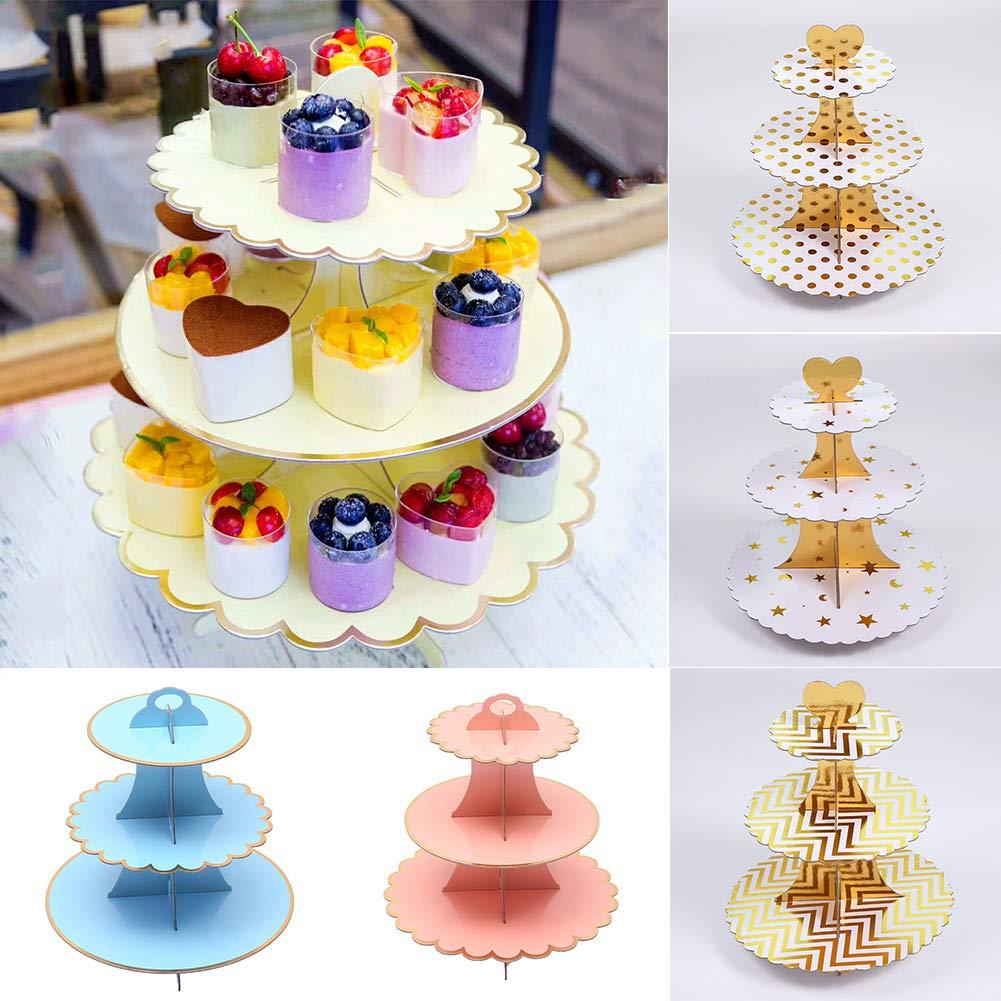 Cupcake Stand 3 étages Tour fête d/'anniversaire stand//Fête De Mariage Support