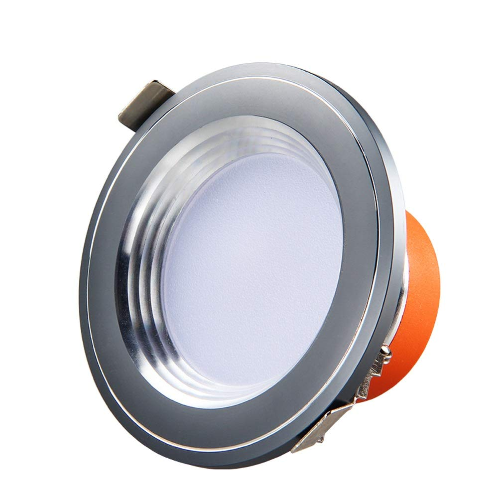 3W/5W/7W White Light/Warm Light Super Bright Led Downlight Recessed Ceiling Spotlight European Ultra Slim Round Panel Recessed Ceiling Spotlights professional Aluminum Commercial Exhibition Decorative by Neixy (Image #1)