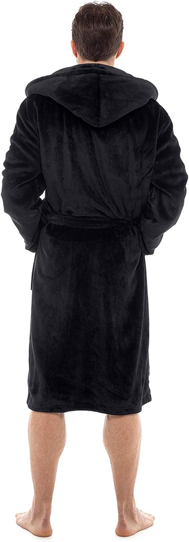 CityComfort Herren Bademantel Superweiche Herren Fleece Robe Mit Kapuze Bademantel Damen Warm Und Kuschelig