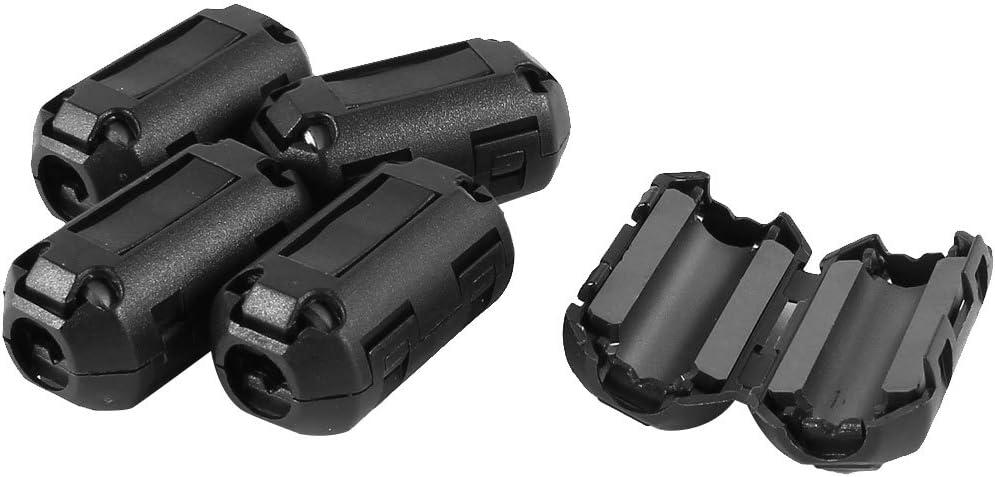 6 Pcs Clip On EMI RFI Bruit Noyau de ferrite Filtre Pour Câble 5 mm S7K5