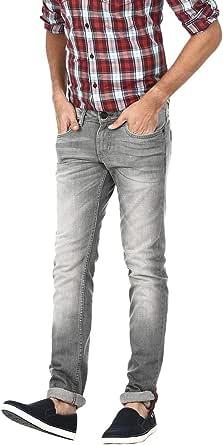 بيسيكس B675 بنطلون كاجوال جينز خصر قصير لون رمادي للرجال - مقاس 38 EU