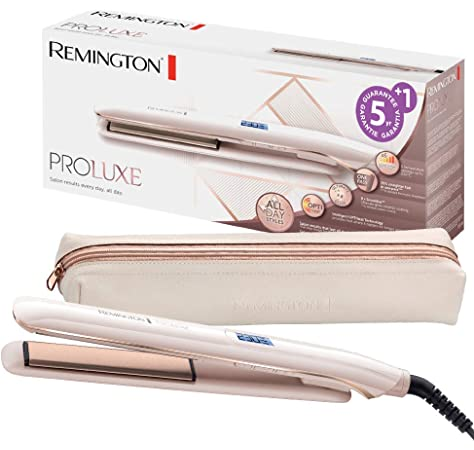 Remington S9100 ProLuxe - Plancha de Pelo, Cerámica, Digital, 9 ajustes, Rosa Metalizado: Amazon.es: Salud y cuidado personal