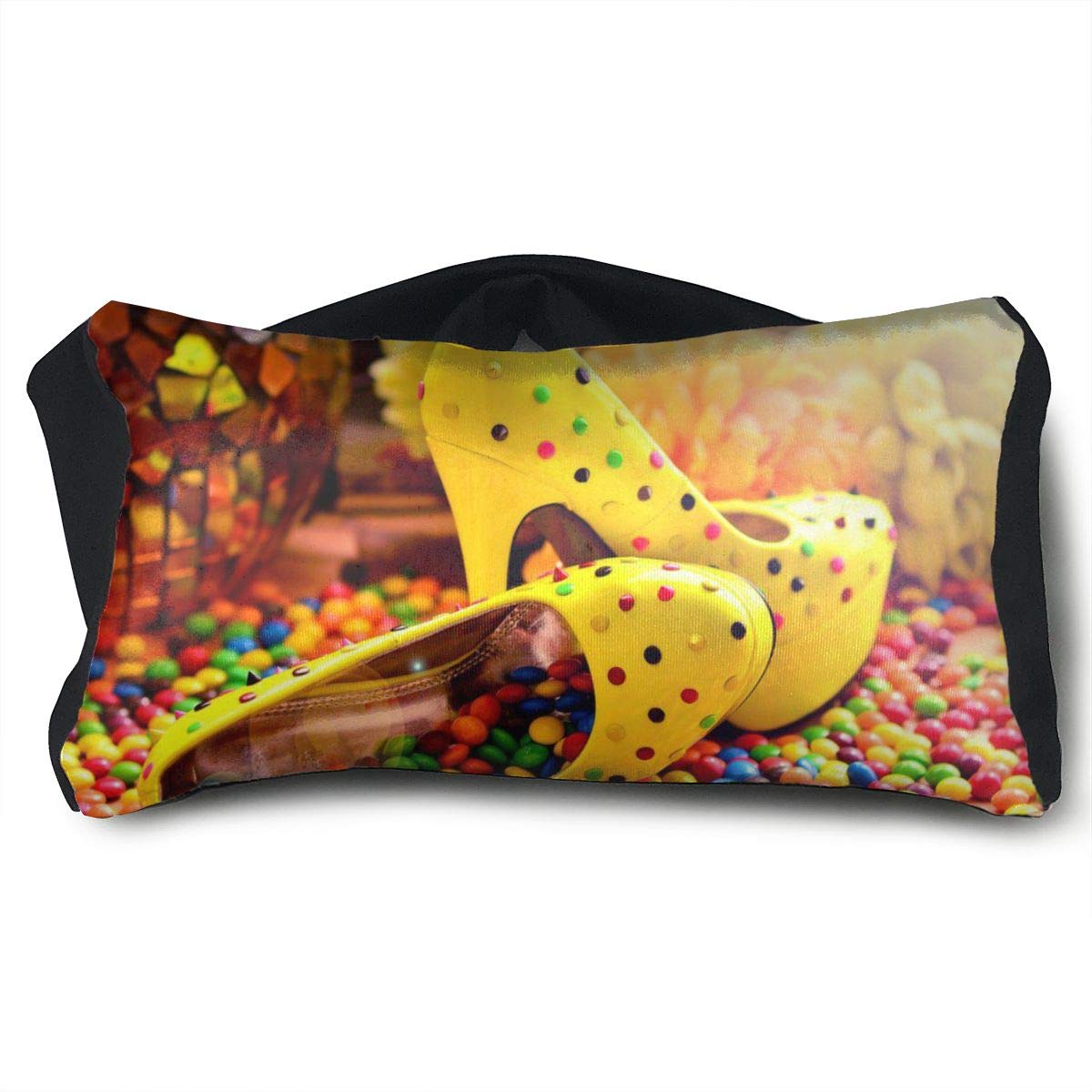Eye Pillow Sleep Mask for Sleeping Migraine Headaches Stress Relief Candy Shoes Eyeshade