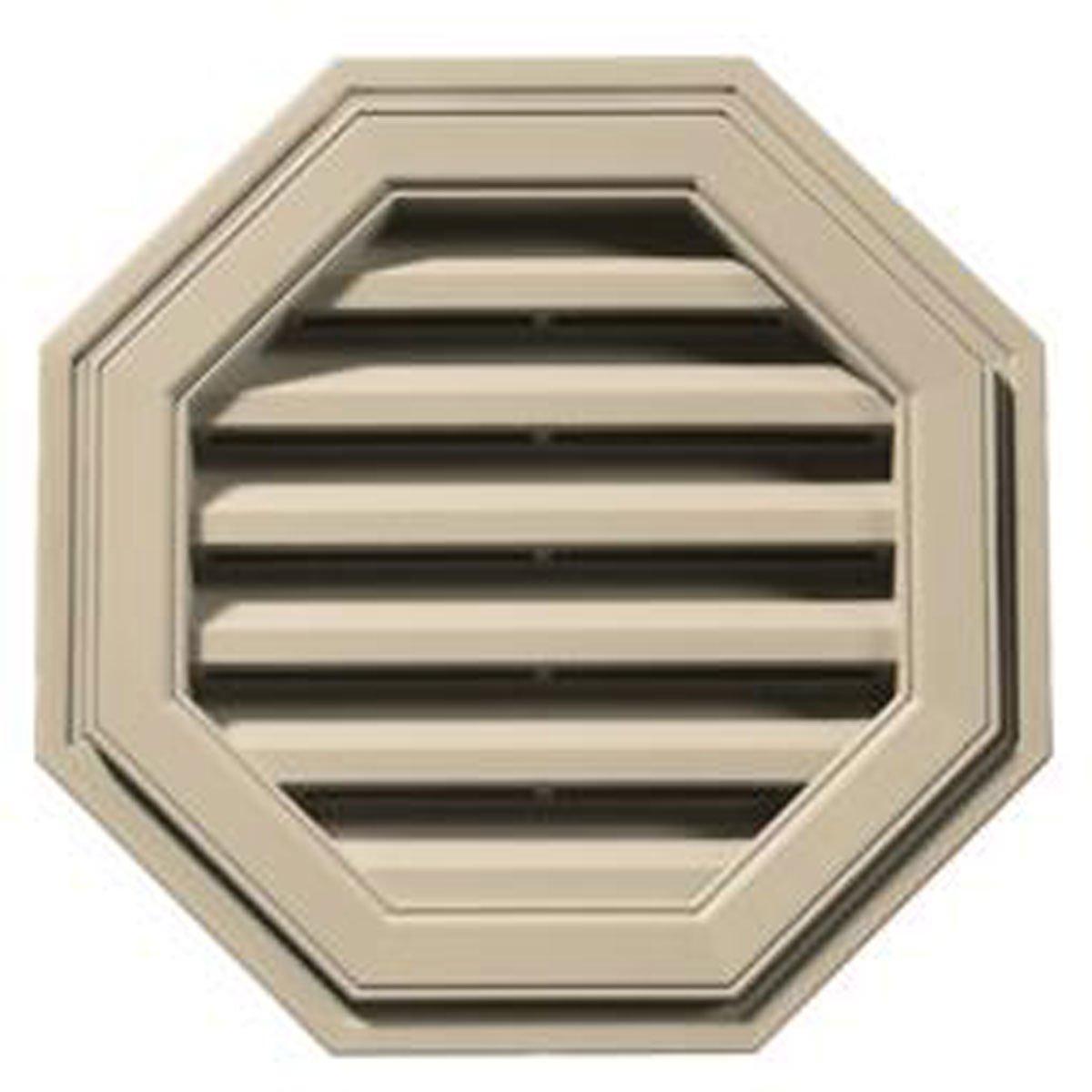 18'' W x 18'' H Octagon Gable Vent Louver, 26 Sq. Inch Vent Area, 011 - Sandalwood
