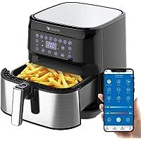 Proscenic Heteluchtfriteuse T21, app en spraakbediening, friteuse Aerofryer 5,5 l, XXL, 1700 W Airfryer met groot…