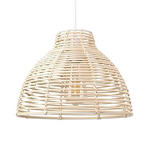 Lámpara De Techo Lámpara De Mimbre Moderna Cesta De Mimbre ...