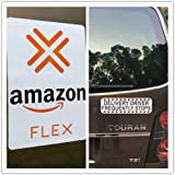 """Car Signs for Flex Drivers Car Magnetic Sign Vehicle 2 Signs (1)- 8.5"""" x 9.5""""&(1)- 3''9.5''"""
