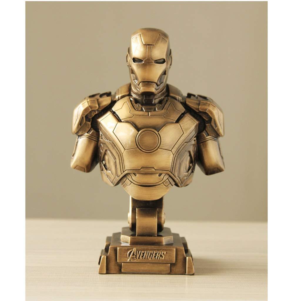 Qivor Avengers Iron Man Büste GK Resin Model Statue Anime Ornament 23cm