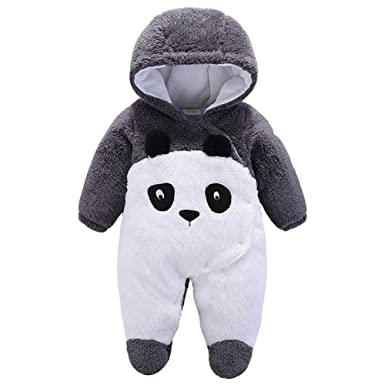 cff6db078 LPATTERN Infant Baby Boys Girls Thick Warm Cuddly Pram Suit Romper Fleece  Onesies Winter Jumpsuit: Amazon.co.uk: Clothing
