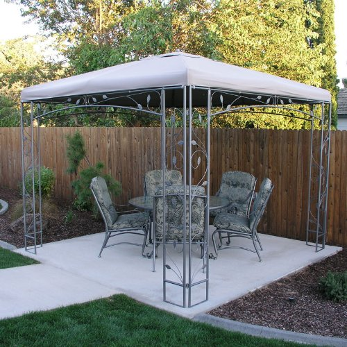 Garden winds replacement canopy for the martha stewart for Outdoor furniture gazebo
