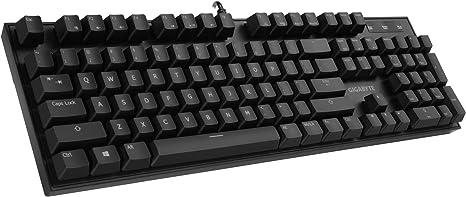 Gigabyte technology - Teclado gigabyte USB Gaming Force k85 RGB Negro Cherry Red gk-fk85re-sp