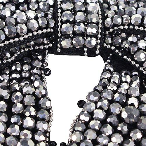 Noir Patches 1 Applique Tête Perles EMDOMO Motif Broche DIY Badges Serre Chaussures pour Bowknot nbsp;Pièce gris col Cravate Vêtements Décoré aIUaqnw6t
