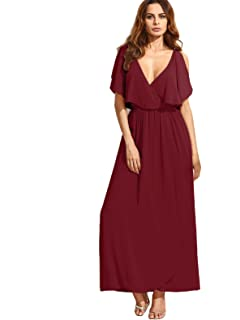 Milumia Women s Off The Shoulder Layered Ruffle Party Maxi Dress at ... 755253766