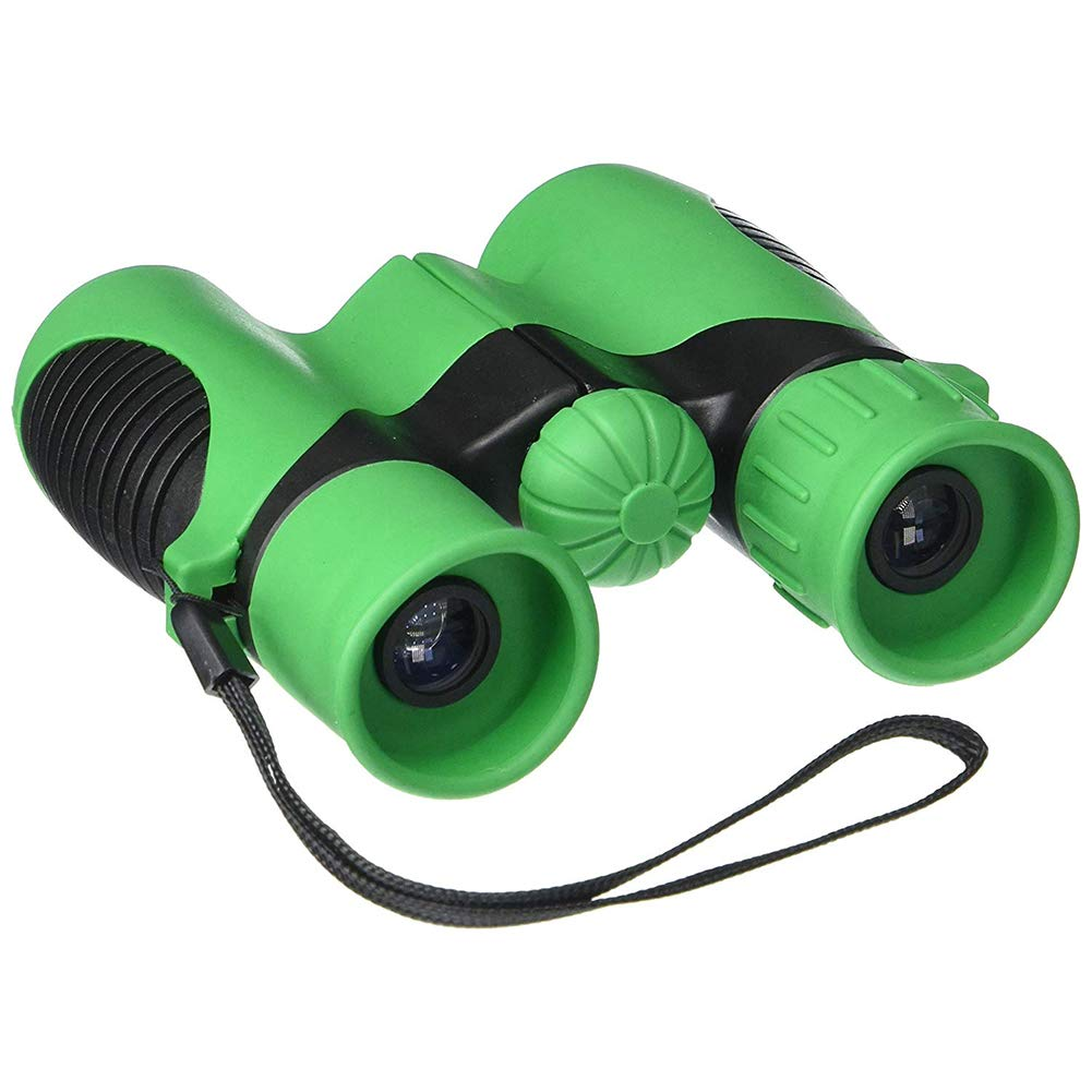 Cacoffay Binoculars for Kids High Resolution Bonus Magnifying Glass - Easy Adjust 8X Zoom Toy for Boys and Girls Gift