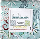 quilting fabric with 5 stars - Amanda Murphy Nordic Holiday 5X5 Pack 42 5-inch Squares Charm Pack Benartex