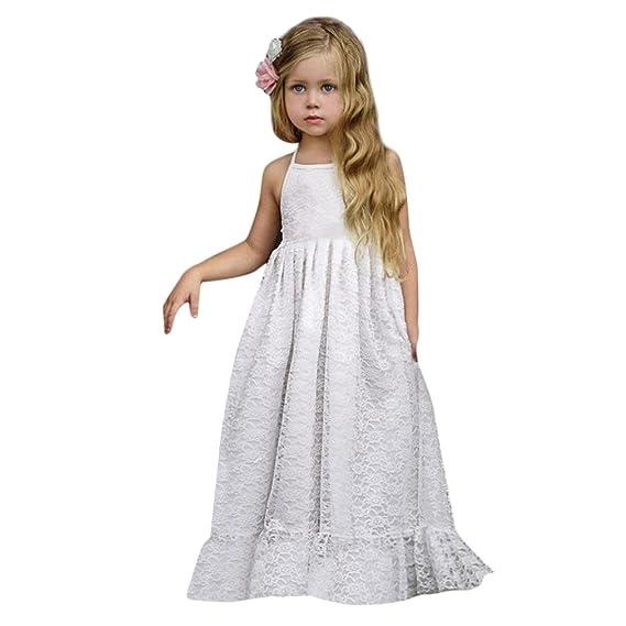 Vestidos Niña, ASHOP Vestido de Niñas Boda Fiesta de Princesa en Oferta Casual Correa sin