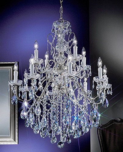 (Daniele 12-Light Crystal Chandelier (English Bronze - Swarovski Strass) )