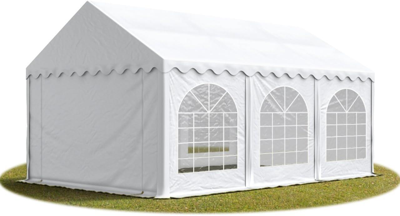 TOOLPORT Carpa de Fiesta 3x6 m Lona PVC Aprox. 500g/m² 100% Impermeable con Estructura de Suelo Blanco: Amazon.es: Jardín