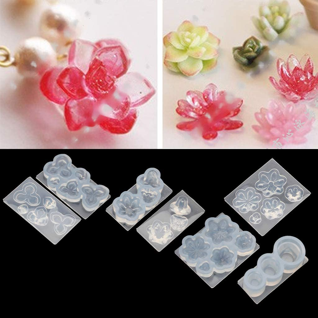 Mcollriyer Mini Size Flower Succulent Plants Flowerpot Silicone Resin Mold Art Craft Tools