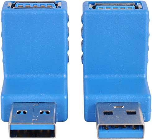 Cable Length: As Show, Color: Blue Occus New USB 3.0 A Male to A Male M-M Coupler Adapter Connector MAR2