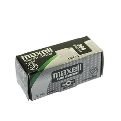 4e474d802 MAXELL SR621SW - 364 - Pila de Óxido de Plata 1.55V - PACK 10 UNIDADES
