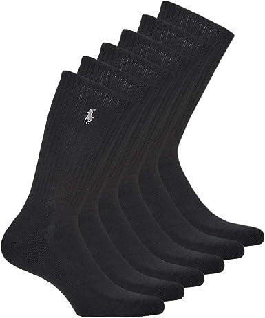 Ralph Lauren - Calcetines deportivos (6 pares), color negro ...