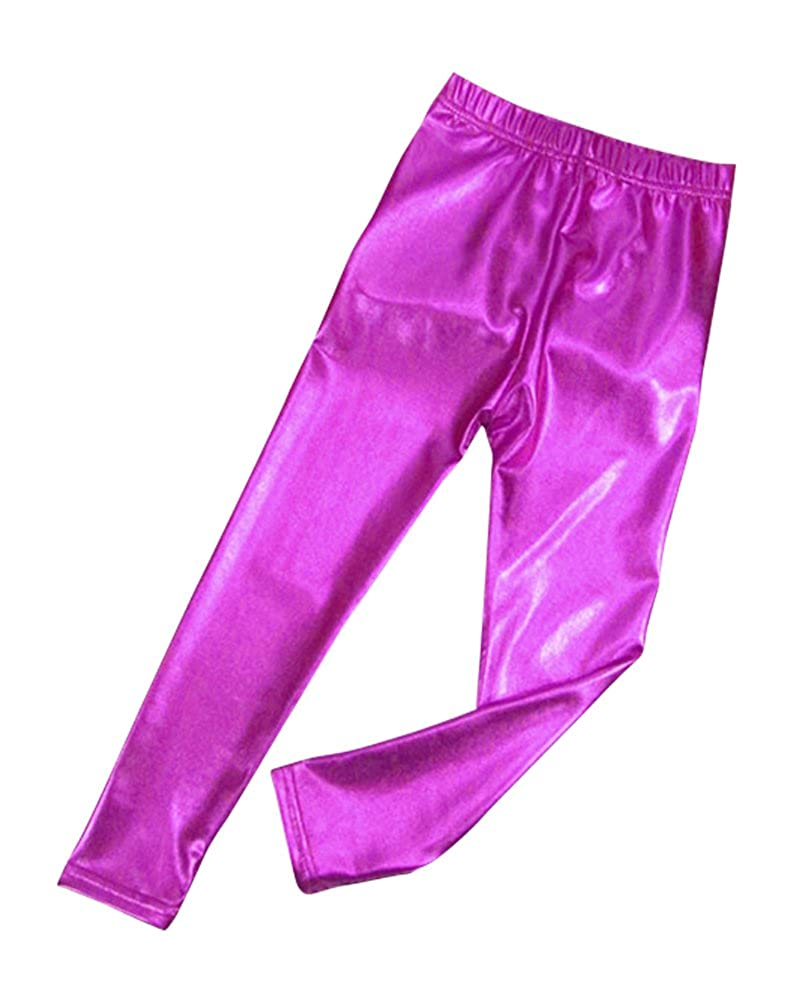 Nonna Bambini Melody Little Girls Skinny Faux Leather Legging Pink