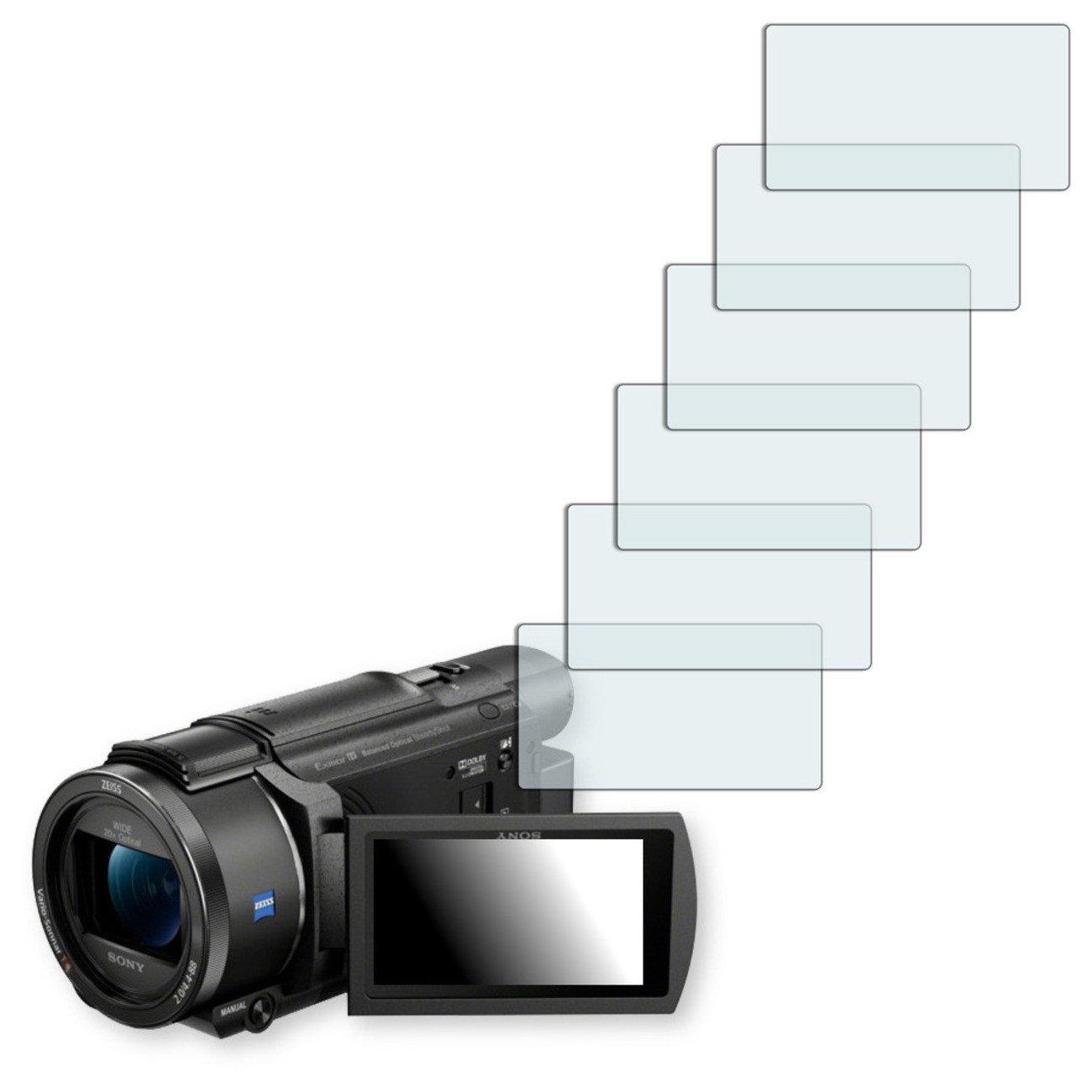 6x Golebo Semi-Matt protectores de pantalla para Sony FDR-AX53 - (efecto antirreflectante, montaje muy fá cil, removible sin residuos) montaje muy fácil DISAGU #xm6473_6