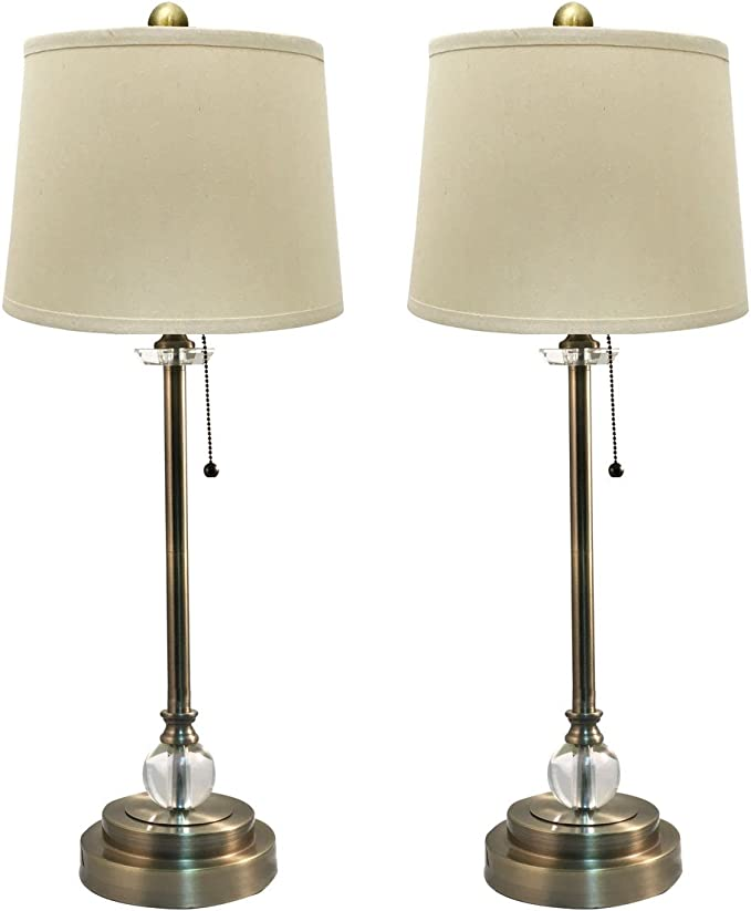 Royal Designs Inc 27 Tall Buffet Linen Cream Hard Back Lamp Shades Set Of 2 Antique Brass Amazon Co Uk Lighting