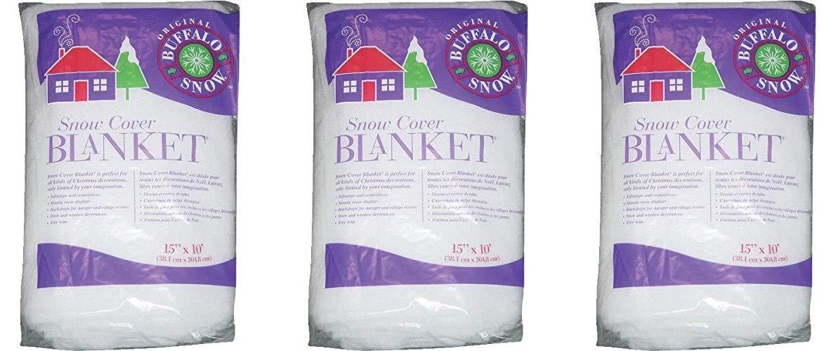 Buffalo Batting Snow Cover Blanket 15in.x10ft. 1/Pkg (Тhrее Pаck)