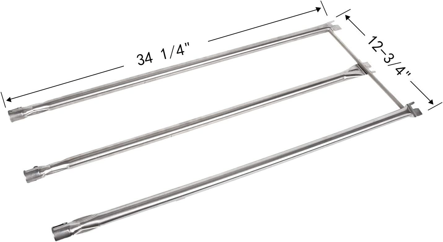 Gassaf Burner Tube Set Replacement for Weber 67722, Genesis 300 Series E310 E320 EP310 EP320 S310 S320 (2007-2010)with Side Control Knobs, 34-1/4 inch 304 Stainless Steel durable Burner