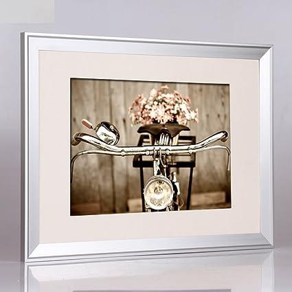 Bbdsj Marco de Fotos,Marco de Aluminio,Portaretrato Simple Familia Moderna A3 A4 Marco