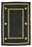 Homespice Texas Rectangular Braided Rugs, 27 by 45-Inch, Black For Sale