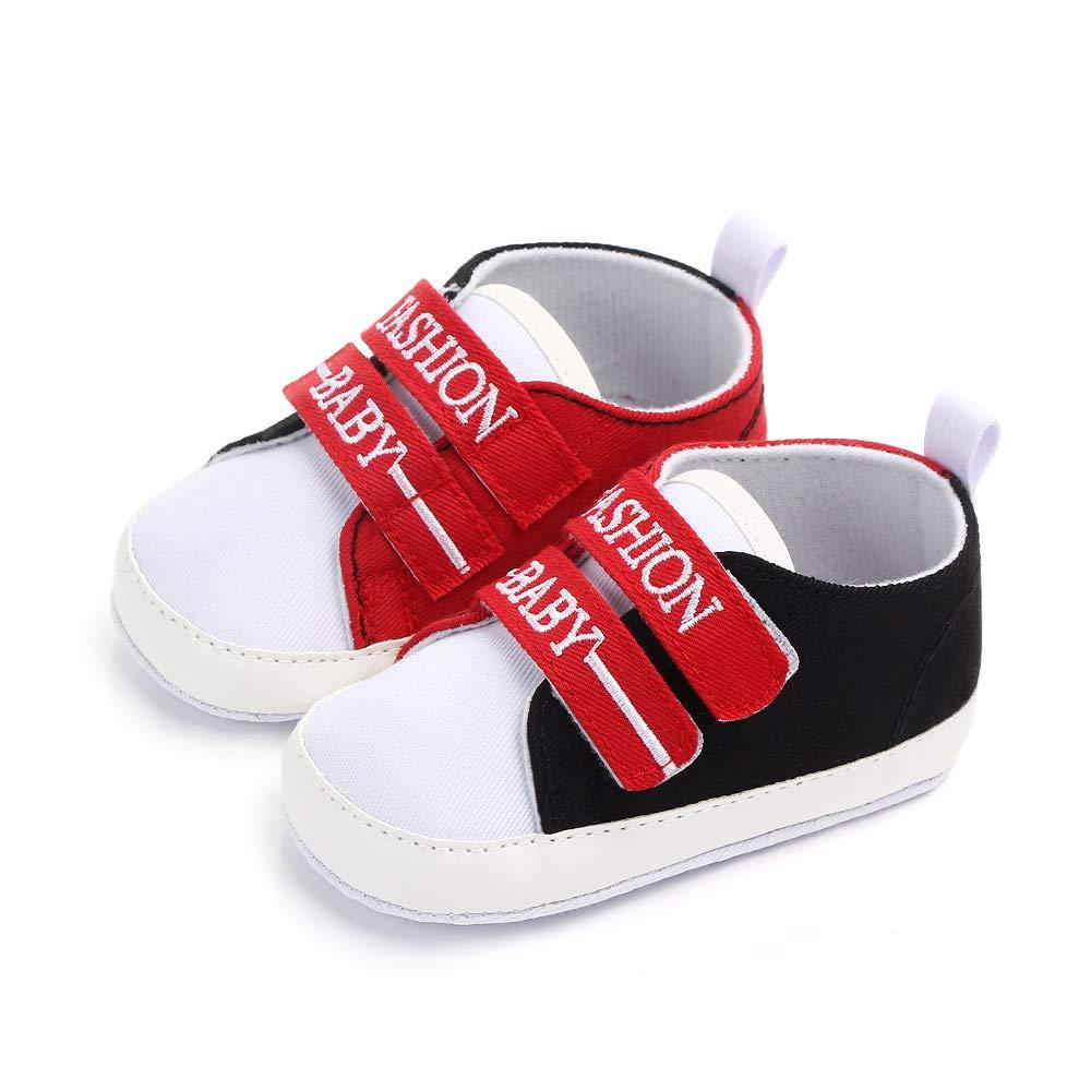 Togudot Infant Boy Girl Canvas Sneakers Soft Sole Anti-Slip Prewalker Toddler Crib Shoes 0-18 Months