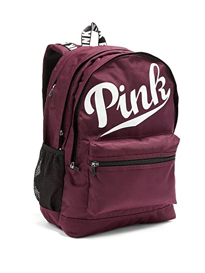 b67085a82f6e Amazon.com   Victoria s Secret PINK Campus Backpack Black Orchid White Logo    Everything Else