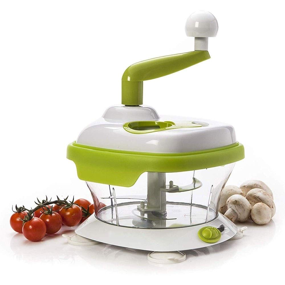 Multifunction Beater and Mixer For Vegetables, Fruits, Meat, Eggs, Salsas and Other Foods The Original Manual Food Processor-Slicer, Chopper, Dicer, Spinner, Mincer, Whisker