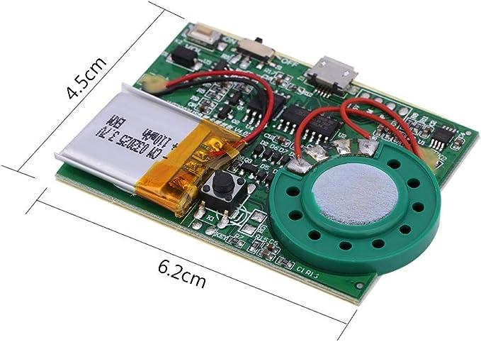 1Stk 10Sekunden Tonaufnahme Push Button Play Device Sprachmodul Chip Für Karte