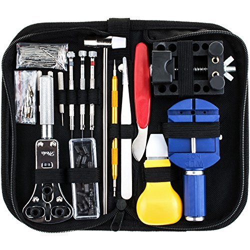 (Vastar 151 PCS Watch Repair Kit, Watch Repair Tools Professional Spring Bar Tool Set, Watch Band Link Remover Tool Set with Carrying Case (Medium) )