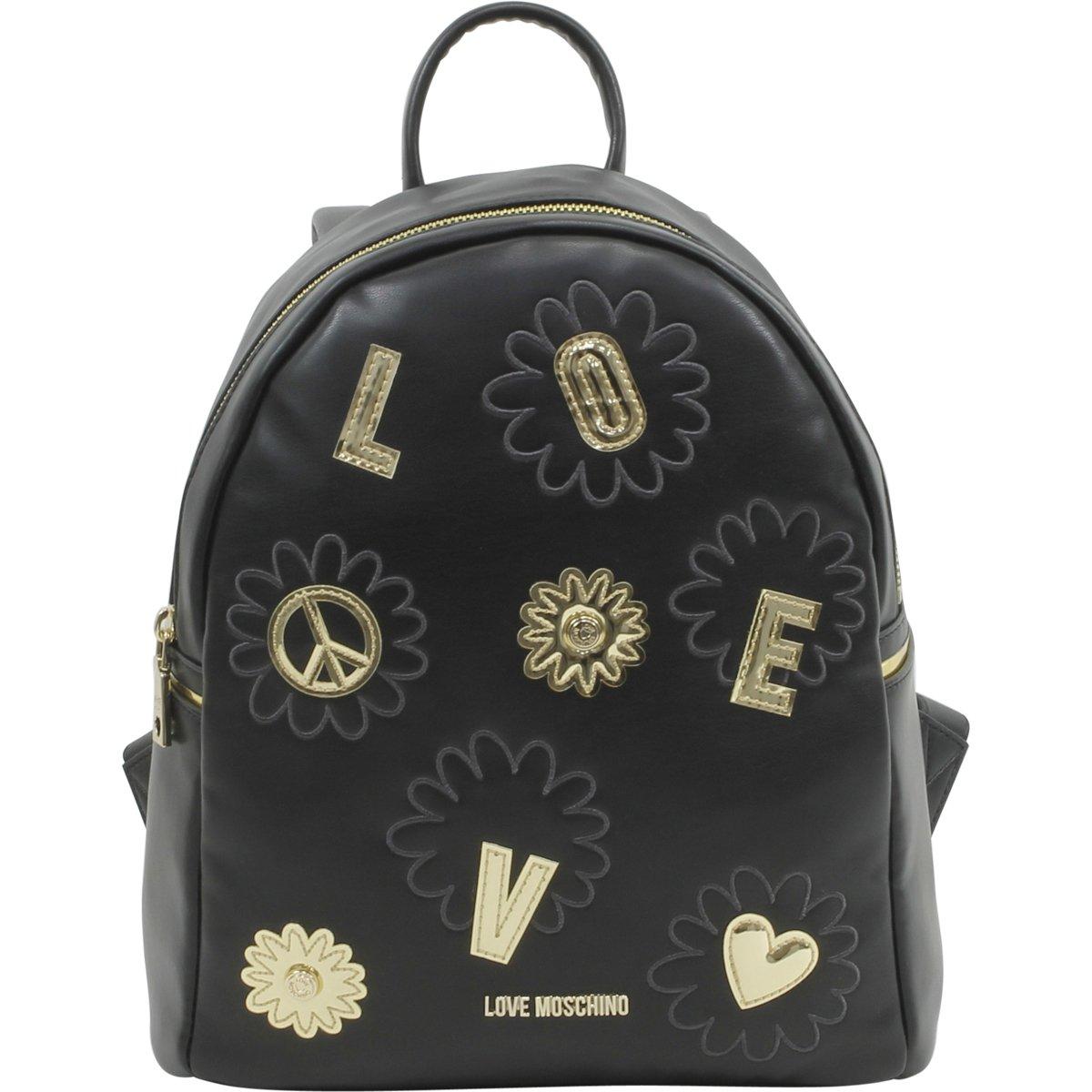 LOVE Moschino Women's Flower Love Backpack Black Backpack