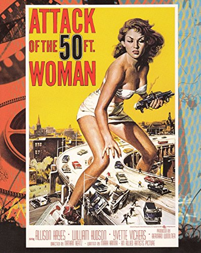 "THE VINTAGE POSTER COLLECTION SCI-FI & HORROR POSTERS 2006 8"" X 10"" PROMO CARD ATTACK OF 50 FOOT WOMAN PHILLY NON-SPORT CARD SHOW"