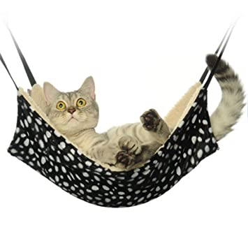 Tinymuse Chaud Fourrure De Chat Hamac Lit A Suspendre Chat Cage