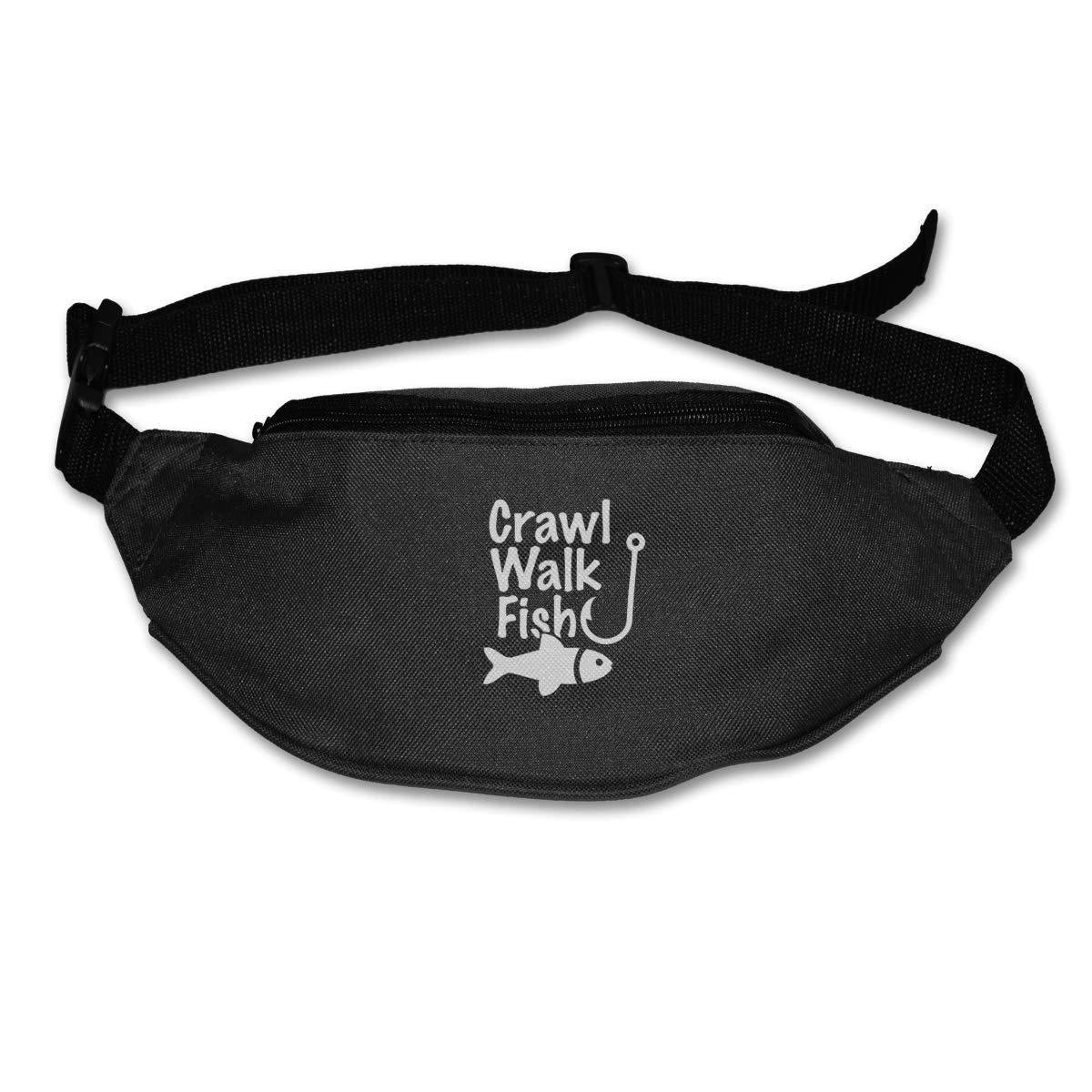 Crawl Walk Fish Sport Waist Packs Fanny Pack Adjustable For Travel