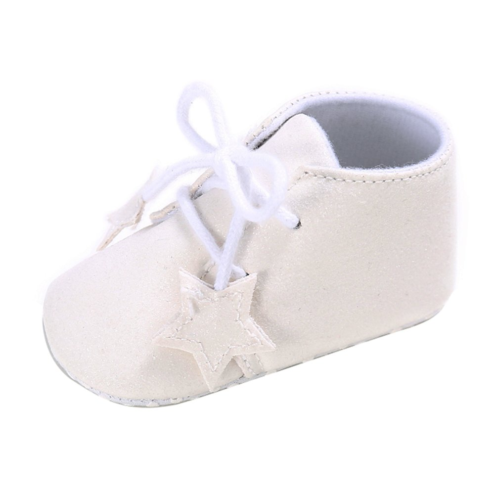 chinatera Spring Autumn Baby Boys Girls Stars Shining PU Leather First Walkers Toddler Indoor Outdoor Casual Prewalkers