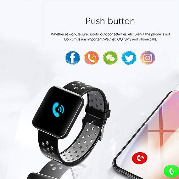 Amazon.com: S88 Men Women Smart Watch Reloj Inteligente Passometer Activity Fitness Heart Rate Sports Smartwatch Wristband,F: Electronics