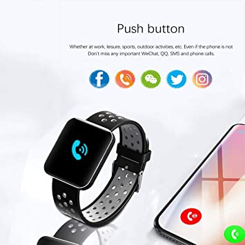 Amazon.com: S88 Men Women Smart Watch Reloj Inteligente Passometer Activity Fitness Heart Rate Sports Smartwatch Wristband,F: Electronics