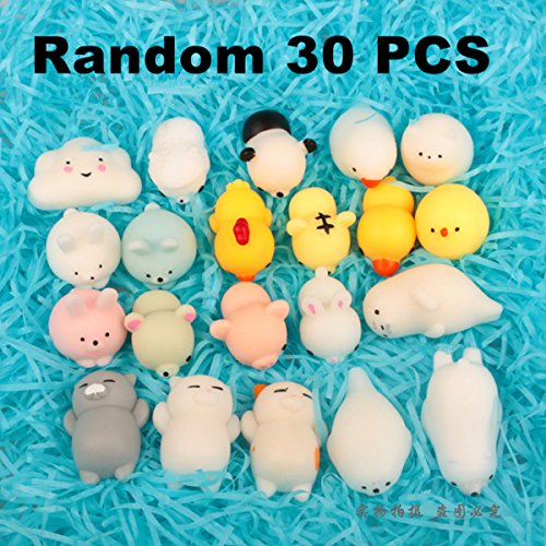 Tech Package (TECH-P Creative Life 30 PCS Soft Mochi Toys Stress Relif Kawaii Animal Squeeze Toy Mini Slow Rising Toy Gift Toys Random Pattern)