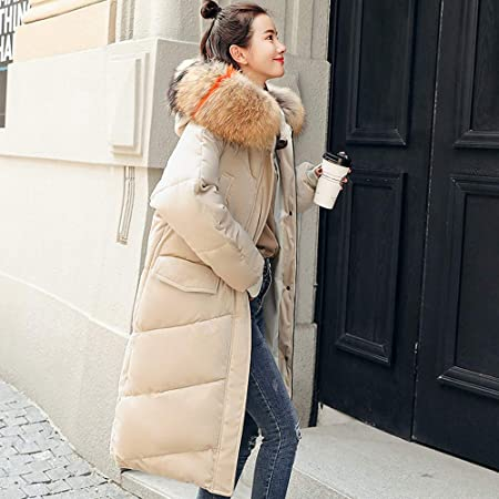 Amazon.com: Dreamyth-Winter Women Outerwear Fur Hooded Coat Long Cotton-Padded Jackets Pocket Coats: Sports & Outdoors