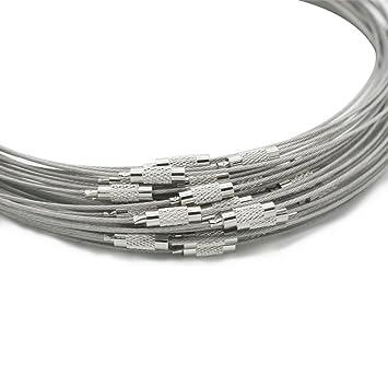 1ba868f1cabb Skyllc® Ronda de acero inoxidable de alambre de plata strass memoria de  acero anillo DIY  Amazon.es  Hogar