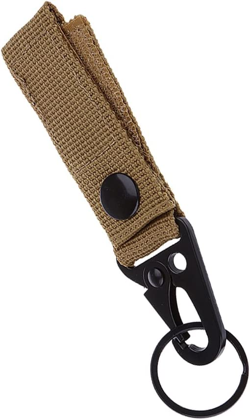 Tactical Molle Hanging Belt Nylon Webbing Strap Plus Steel HK Snap Hook Clip NEW