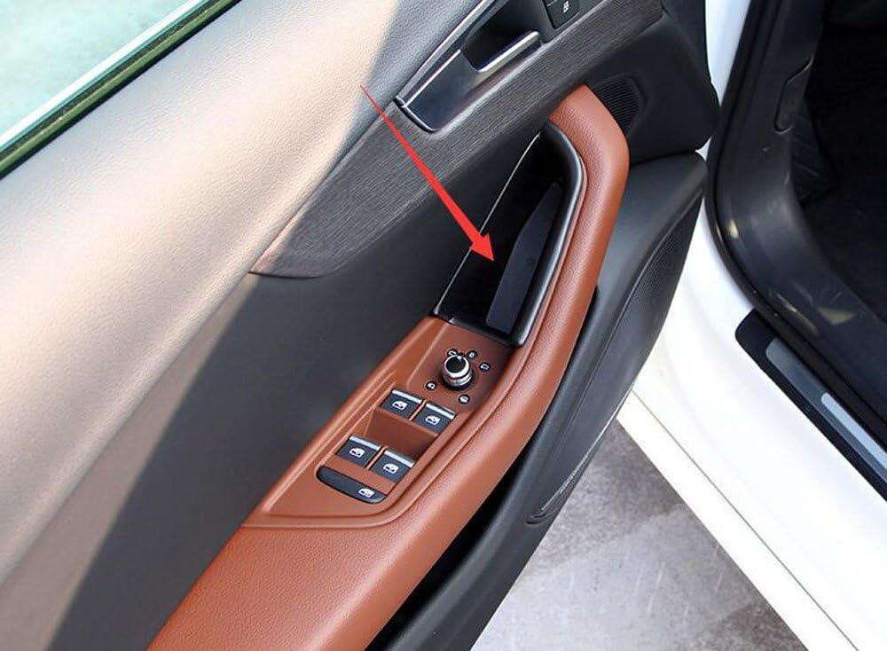 Salusy 2pcs Front Side Door Armrest Storage Box Holder Compatible with Audi A4 Sedan 2017